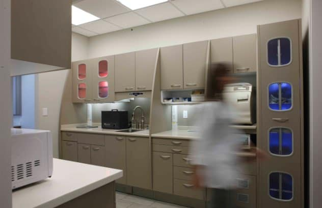 Aesthethic & Implant Dentistry of Atlanta dental tech room.